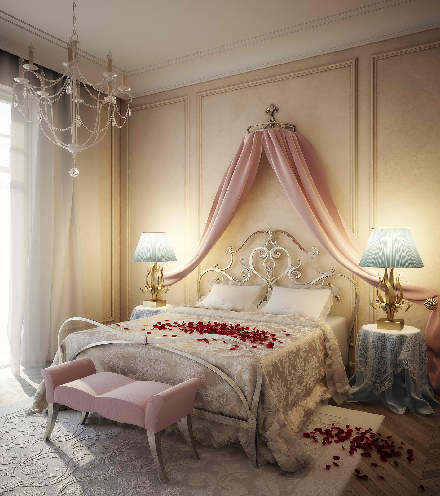 20 romantic bedroom ideas decoholic for Bedroom furnishing ideas