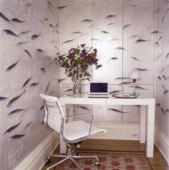 wallpaper as an office decorating idea