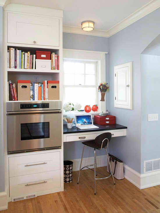 small home office in a nook