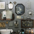 many small mirrors in the bathroom decoraing ideas