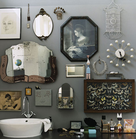 Many Small Mirrors In The Bathroom Decoraing Ideas Photo