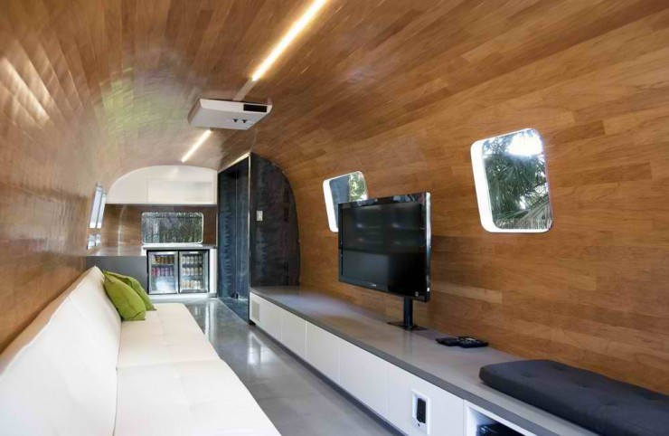 trailer wood modern contemporary interior design