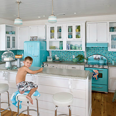 Superbe White Kitchen Ideas With Turquoise Smeg