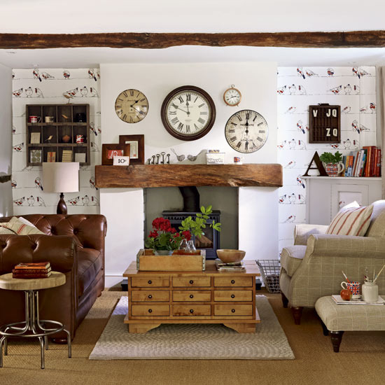 country living room decorating idea