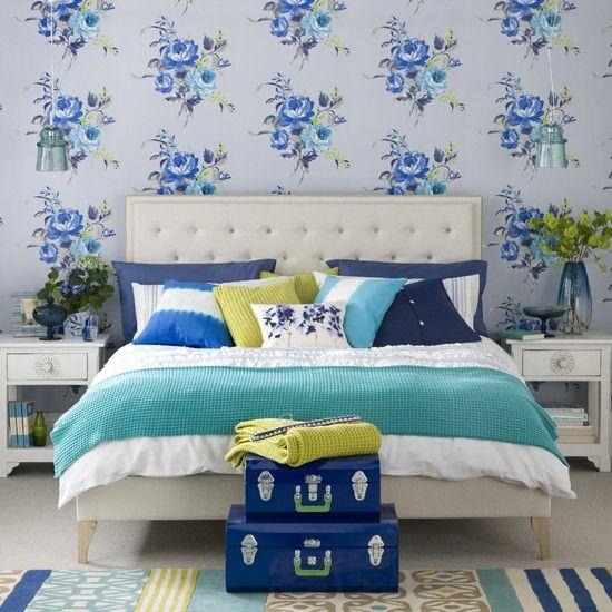 blue vintage room decor