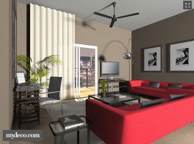 3D living room 2 pictures