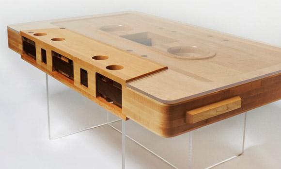 unique coffee table the mixtape tablejeff skierka designs