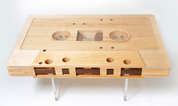 Unique coffee table the mixtape table by jeff skierka for Table unique design