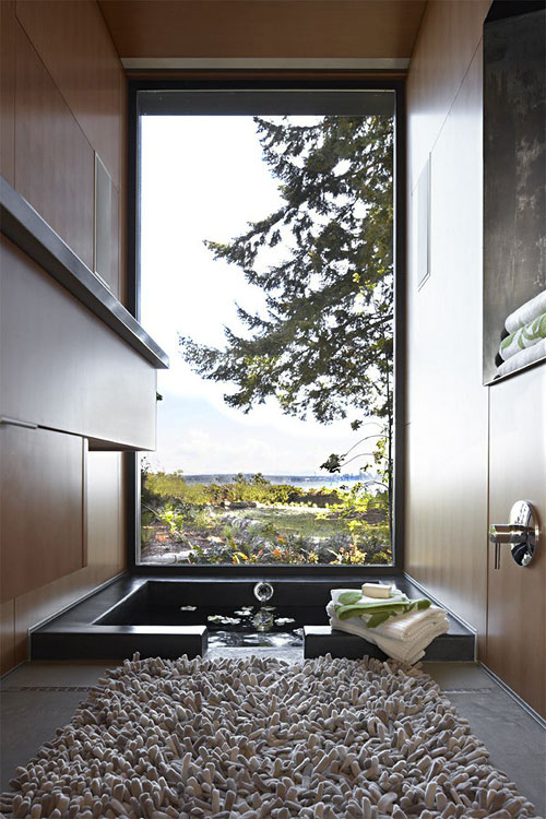 15 breathtaking bathrooms with a view decoholic for View bathroom designs