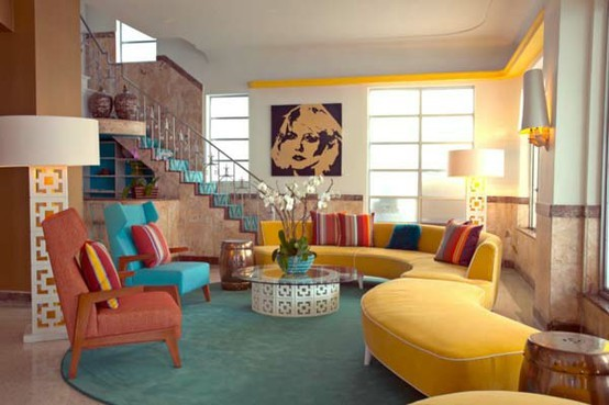 50 Dream Interior Design Ideas for Colorful Living Rooms - Decoholic