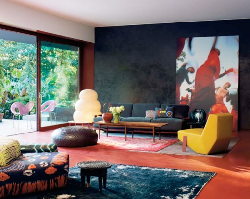 colorful living room by Patricia Urquiola