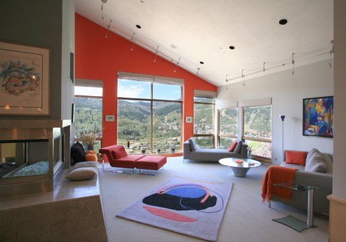 April Mountain Residence contemporary living room
