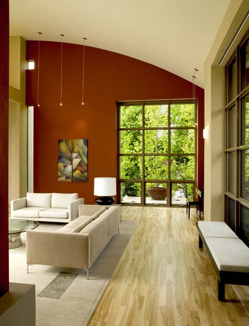 Red Living Room Interior Design Ideas 87