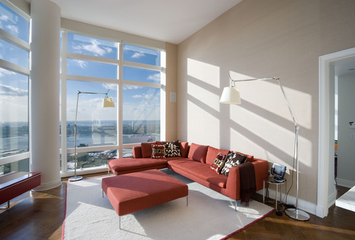 Living Room, Uptown High Rise Apartment, New York City contemporary living room