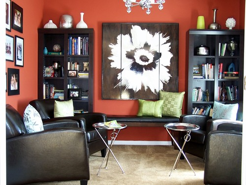 Red Living Room Interior Design Ideas 82