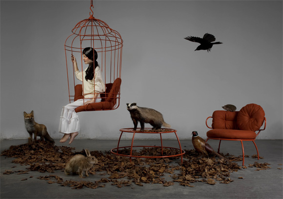 Brand-new Hanging Chair like a Big Birdcage - Decoholic FS09