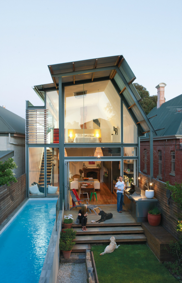 Dream house with amazing small pool in australia decoholic for Houses with swimming pools inside for sale