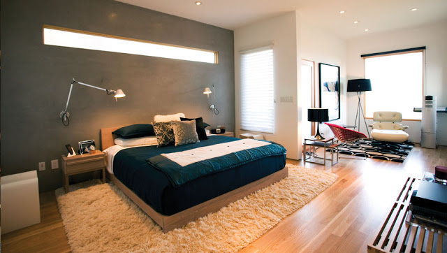 contemporary bedroom by cantilever design