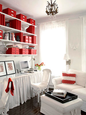 Red Living Room Interior Design Ideas 30