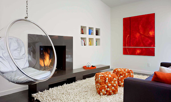 Red Living Room Interior Design Ideas 27