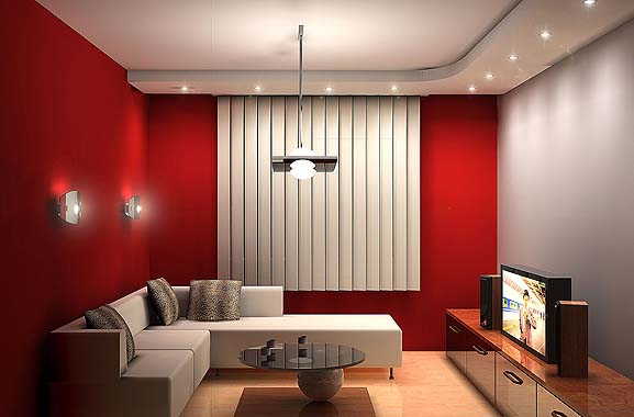 Red Living Room Interior Design Ideas 18