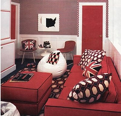 Red Living Room Interior Design Ideas 16