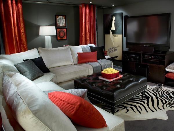 100 Best Red Living Rooms Interior Design Ideas Rh Decoholic Org Black And