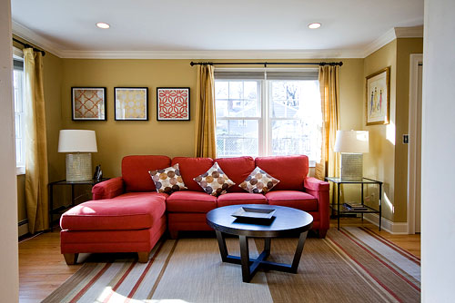 Red Living Room Interior Design Ideas 3