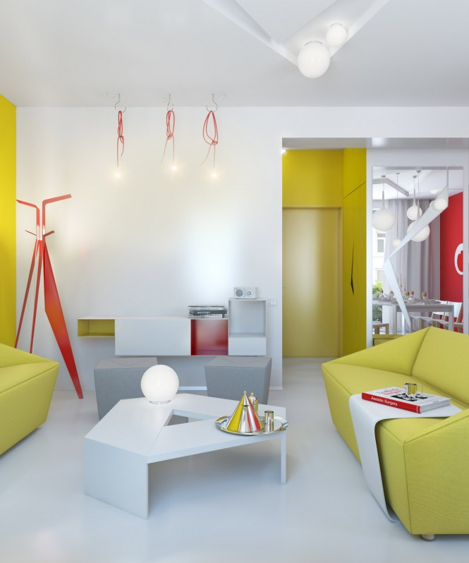 Small Colorful Apartment by Anna Marinenko - Decoholic