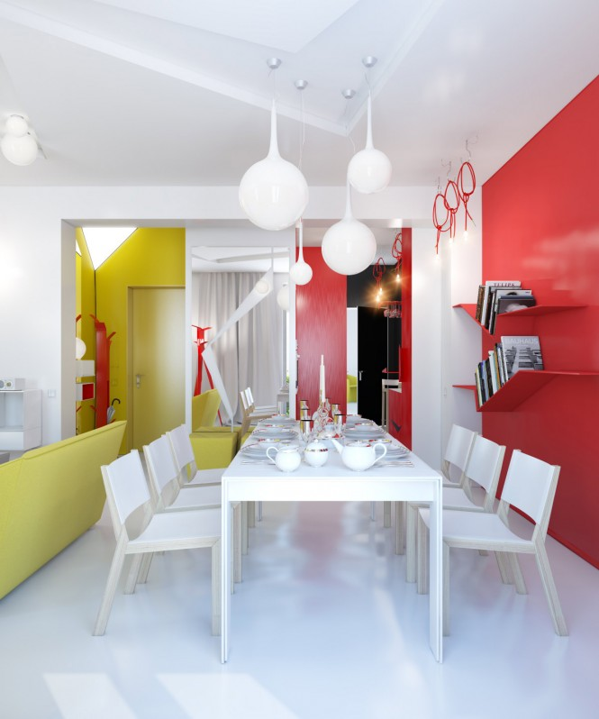 Small Colorful Apartment By Anna Marinenko