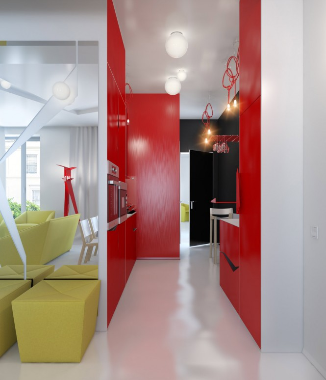 Small Apartment Decorating And Interior Design Ideas: Small Colorful Apartment By Anna Marinenko
