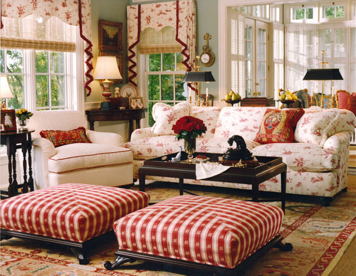 Best Red Living Room Interior Design Idea