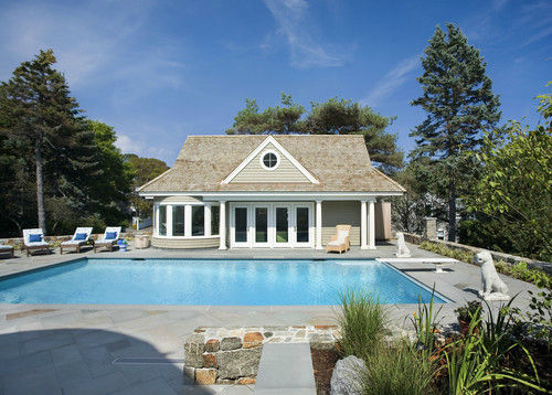 Cool pool house by boston architect siemasko verbridge for Pool house interior