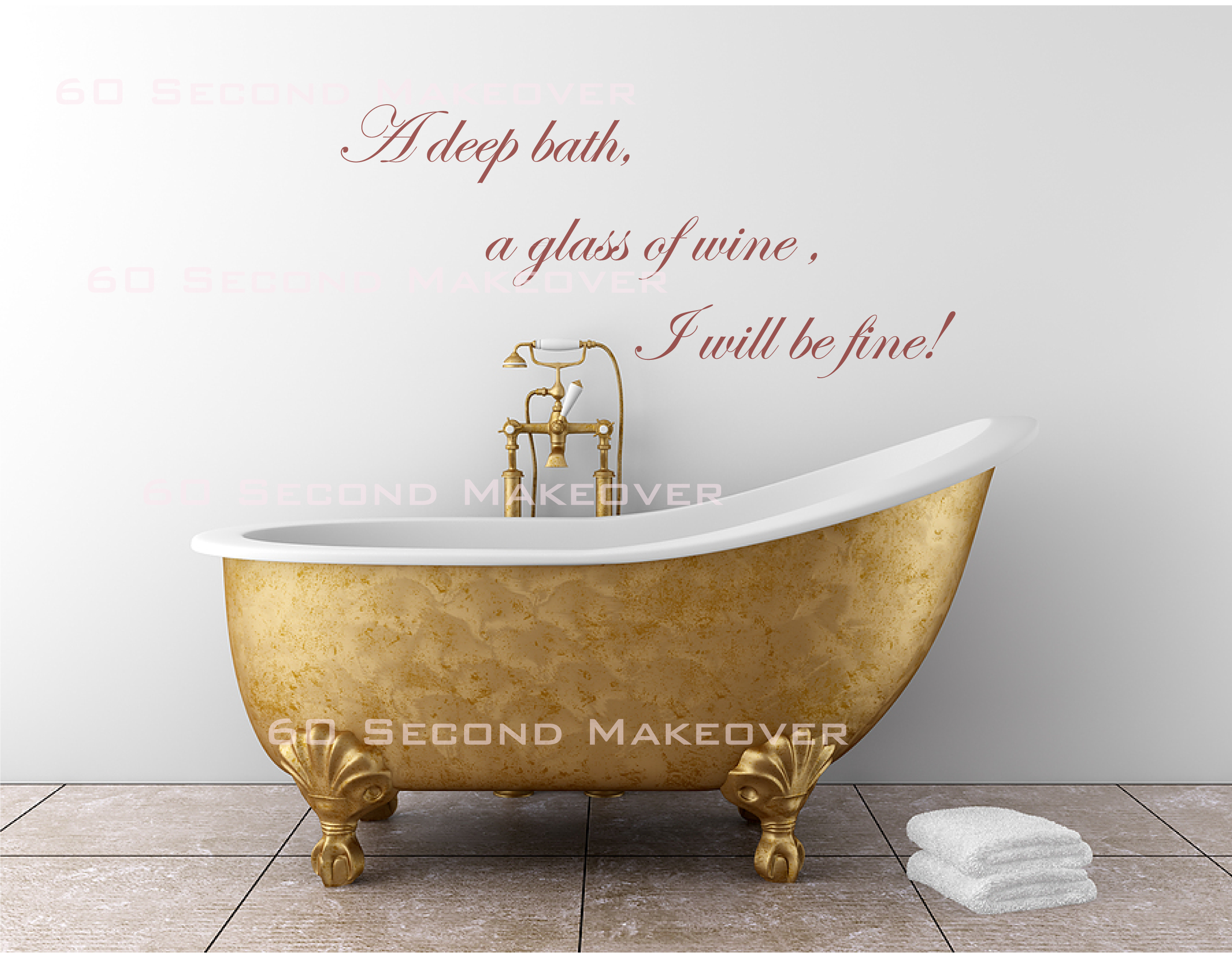 An Encouraging Wall Decal For The Bathroom By 60 Second Makeover