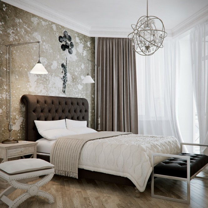 Brown Beige Bedroom Decoration