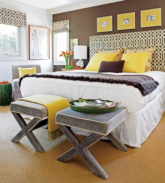 Marvelous Yellow Bedroom Furniture. Brown Yellow Bedroom Decoration Furniture