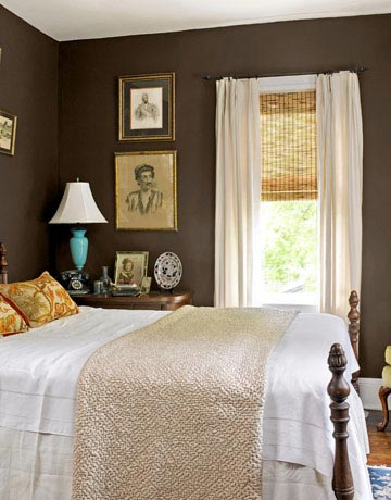 plum brown bedroom