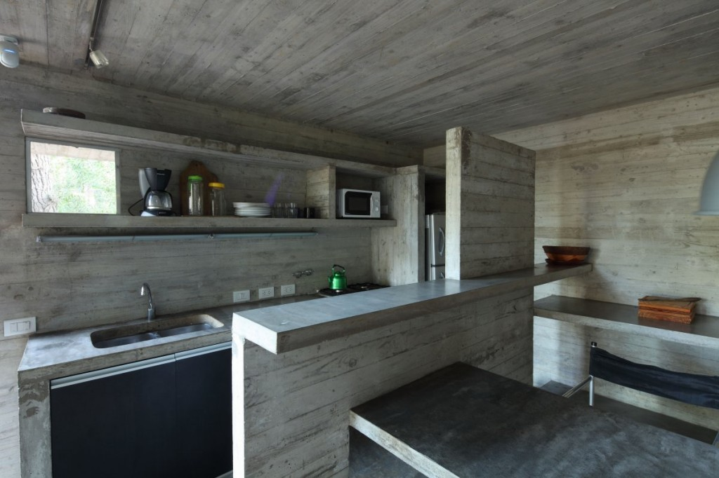 modern concrete kitchen in the franz house designed by bak architects