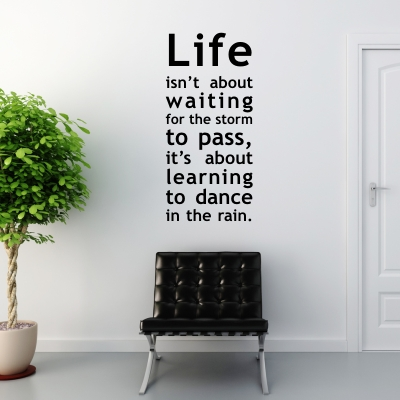 Funny and creative quotes decals for every room decoholic for Fun sayings for dining room wall art