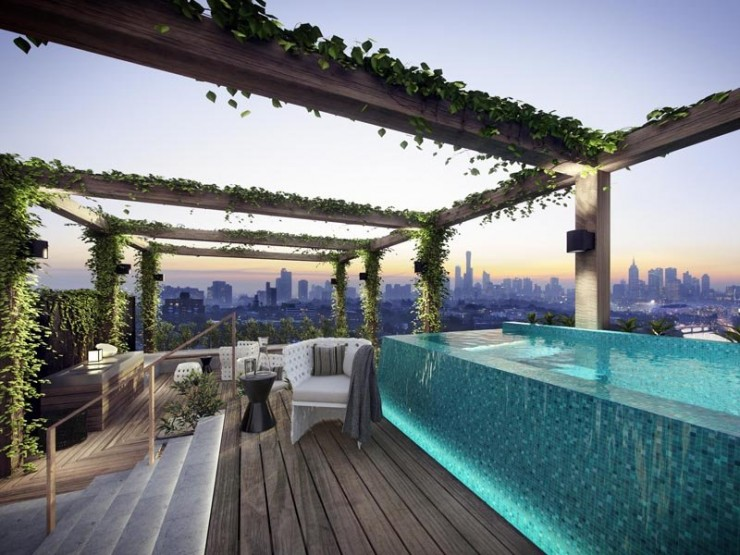 amazing yarra apartment with roof pool