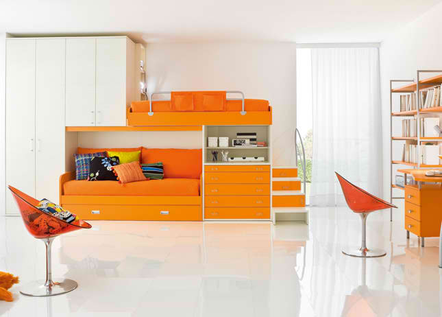 orange boys bedrooms