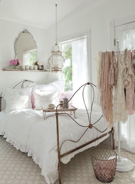 country chic white bedroom