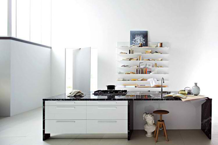 dada artistic white kitchen design