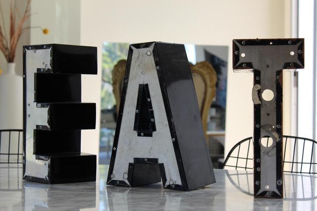 decorative letters eat