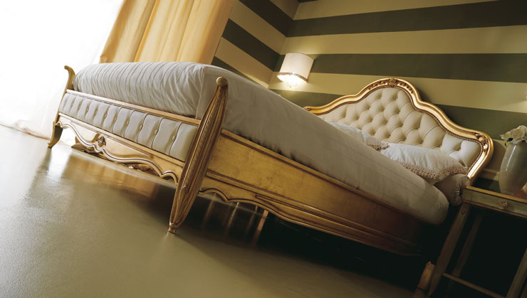 gold luxury bed