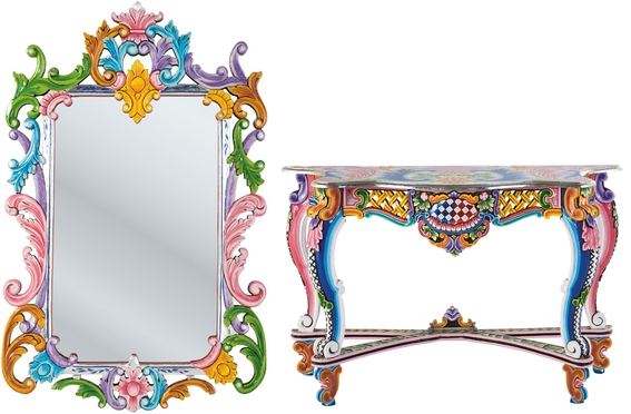 Modern vintage bathroom - Oriental Colorful Furniture Collection Ibiza By Kare Decoholic