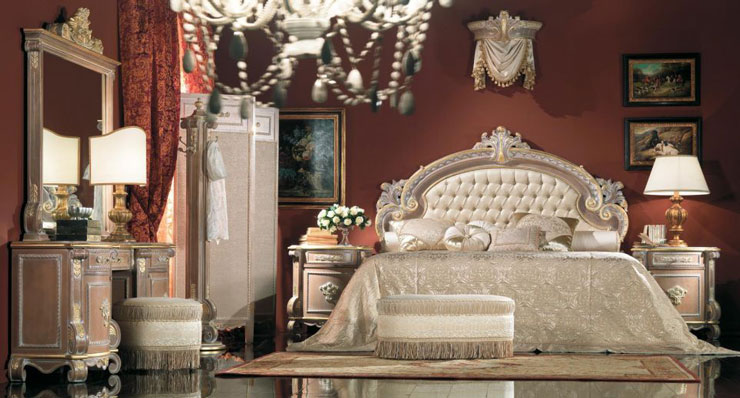 white italian luxury bedroom furniture