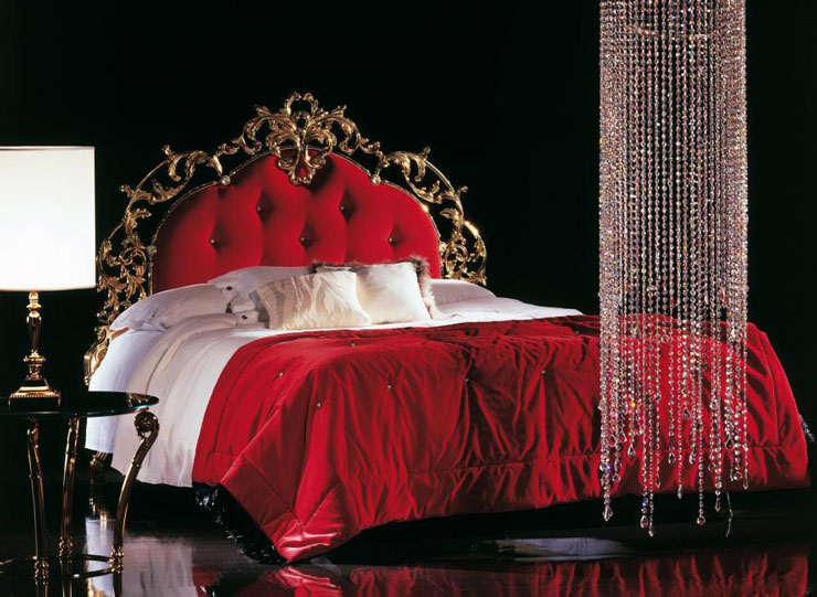 master bedroom red luxury furniture