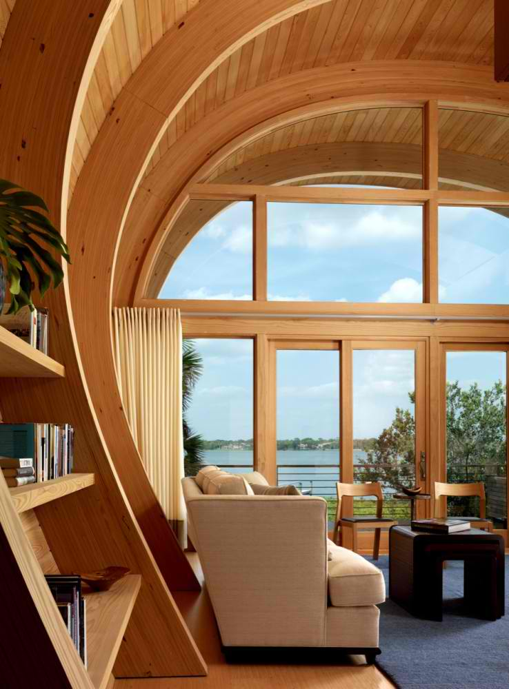oak living room with a view by totems