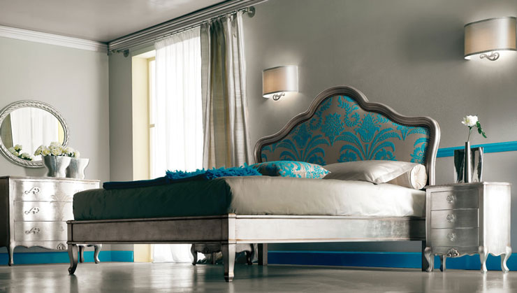 turquoise and silver luxury bedroom furniture